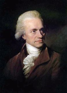 Oil portrait of a man with his white hair combed back, looking to his left, wearing white scarf knotted at the neck and a brown jacket