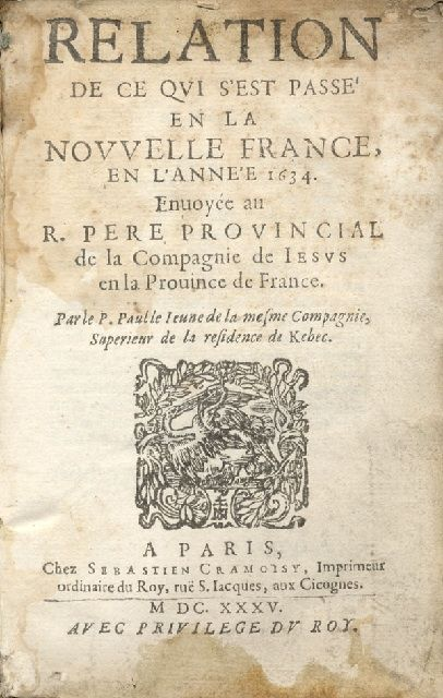 Title page of a book with text in French and an engraving at the centre of the page
